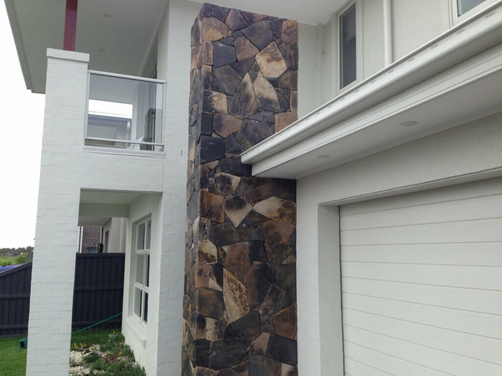 Arctic Bluestone building facade feature wall
