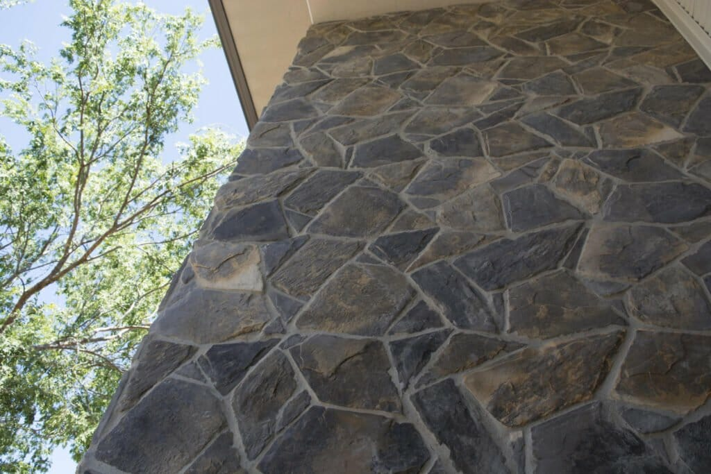 Arctic Bluestone feature wall building facade