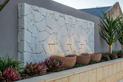 Arctic Limestone Feature Wall
