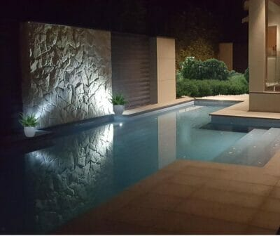 Arctic Limestone Poolside Feature Wall
