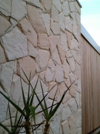 Arctic Limestone feature wall - building facade