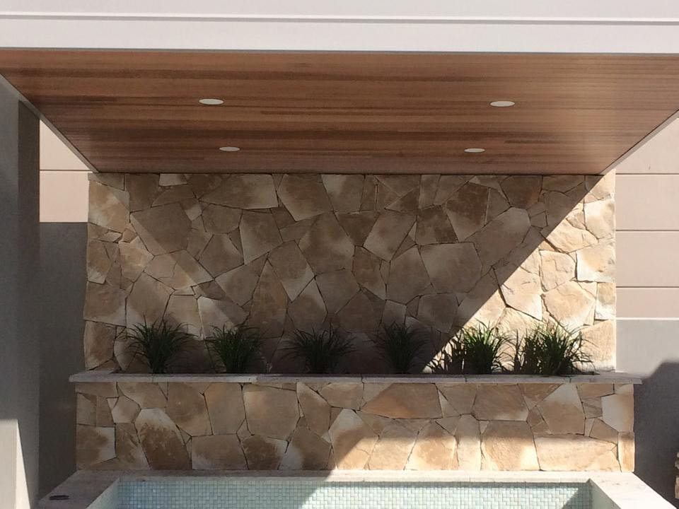 Arctic Sandstone feature retaining wall