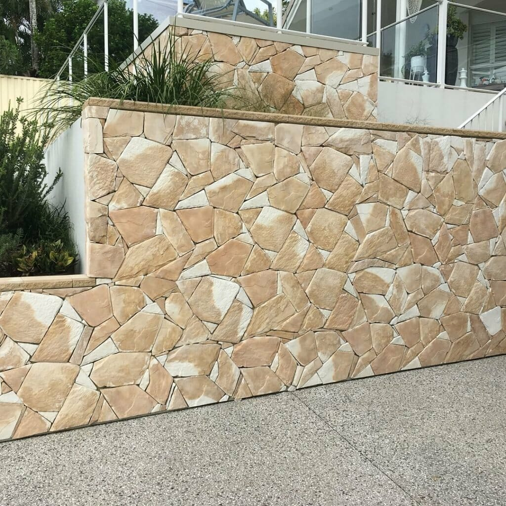 Arctic Sandstone feature wall - building facade