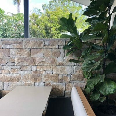 Dry Stacked Natural Grey feature wall commercial