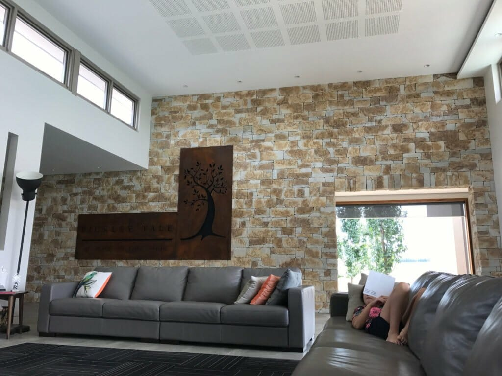 Dry Stack Natural Grey feature wall