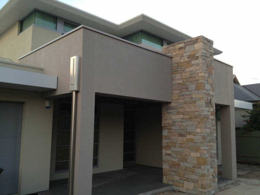 Dry Stack Natural Grey pillar feature wall