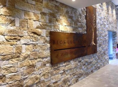 Dry Stacked Natural Grey feature wall