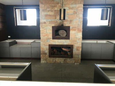 Dry Stacked Natural Grey fireplace