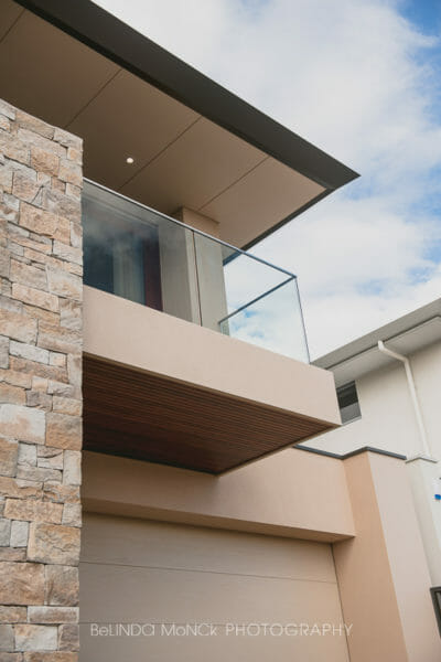 Dry Stacked Natural Grey facade pillar