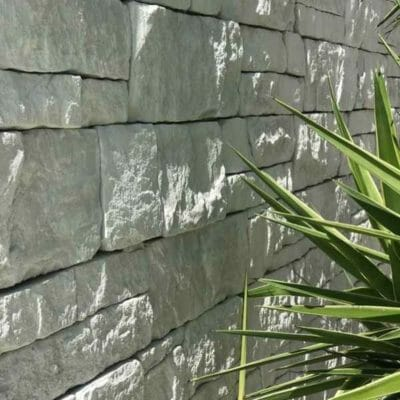 Drystack Limestone feature wall