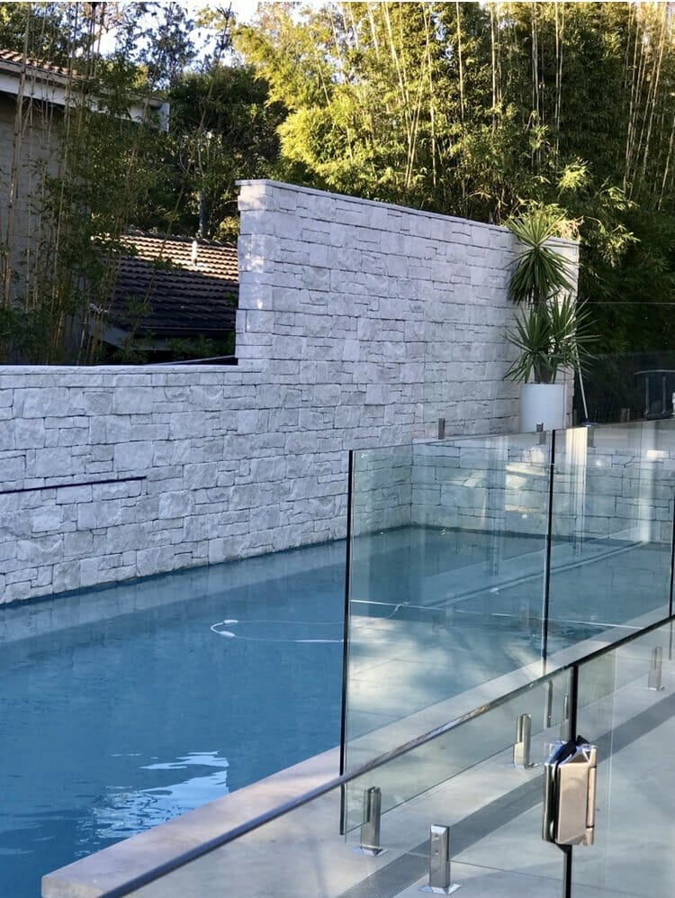 Dry Stacked Limestone feature and retaining wall