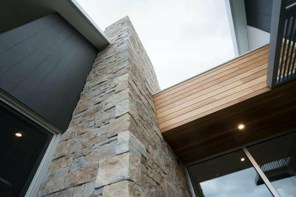 Dry Stacked Natural Grey building facade