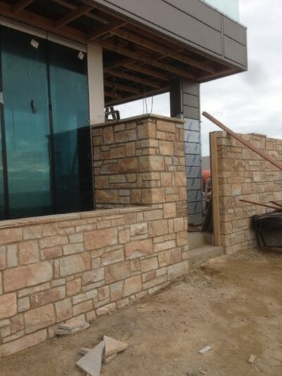 Dry Stacked Sandstone wall