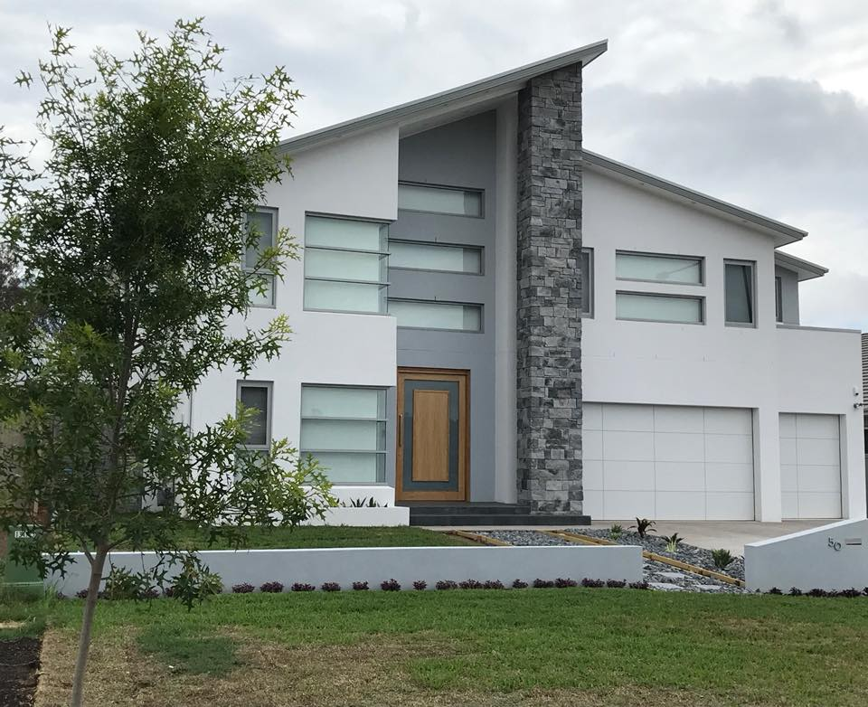 Dry Stacked Slate facade feature