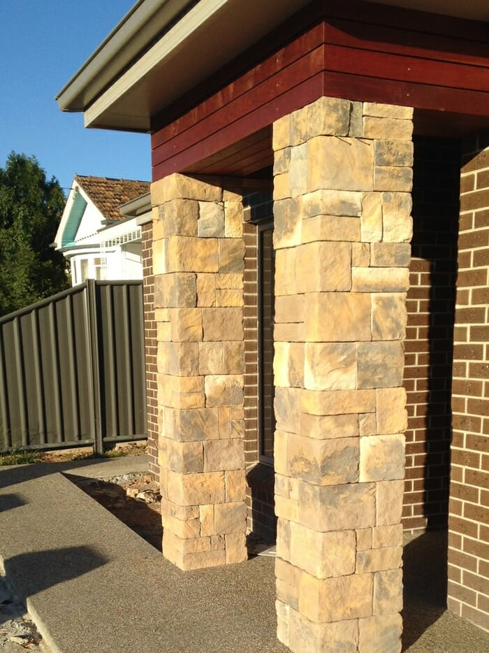 Dry stacked collection veneer stone stone cladding for Stone clad