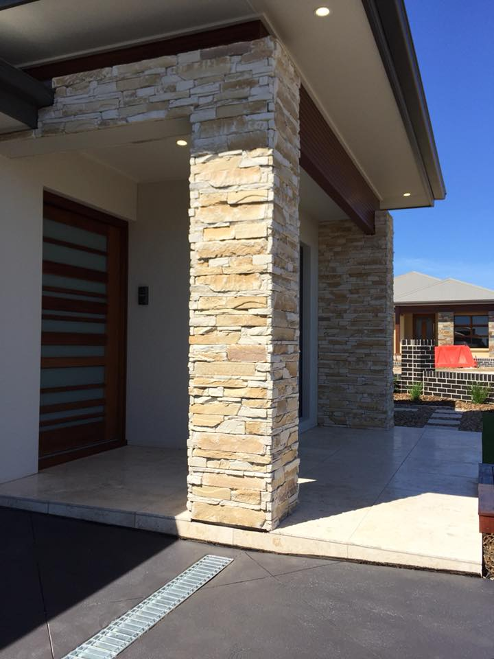 Ledgestone Sandstone building facade feature