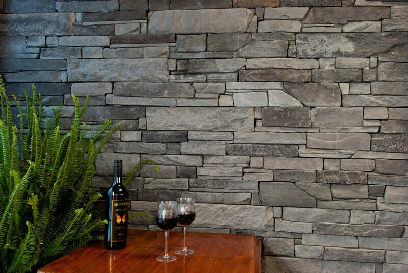 Ledgestone Slate feature wall