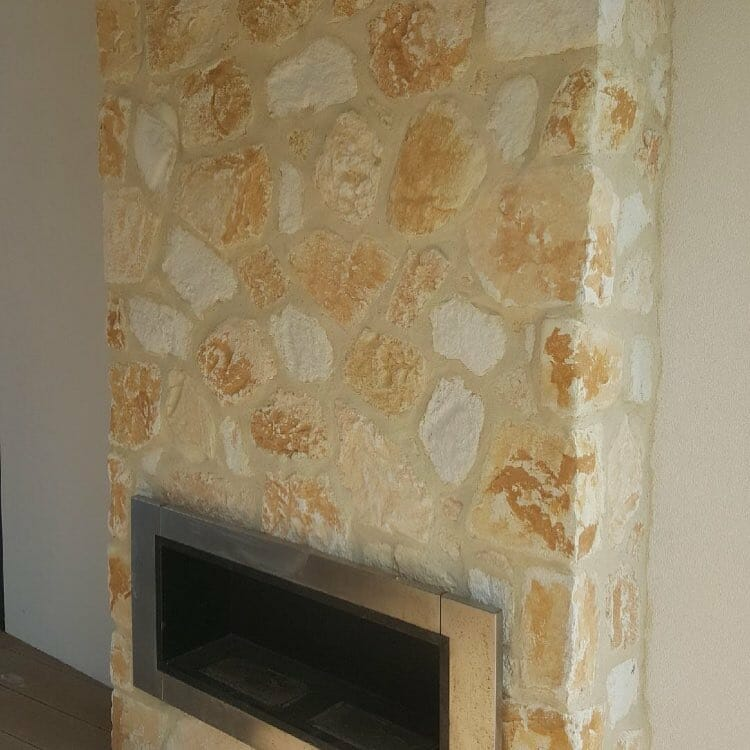 South Coast Limestone fireplace