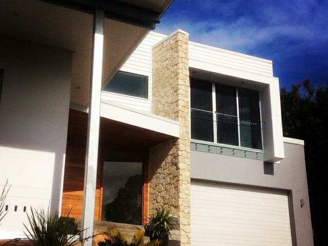 South Coast house facade dry joint install