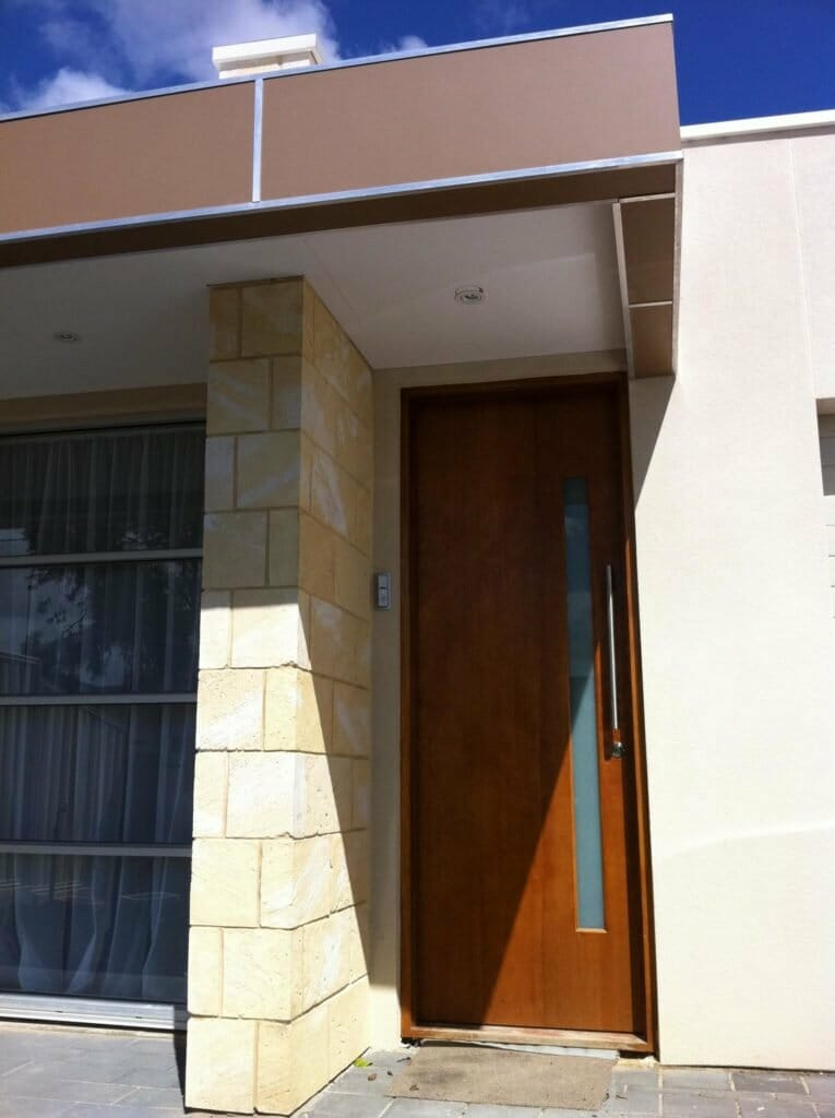 WA Limestone house facade blade feature