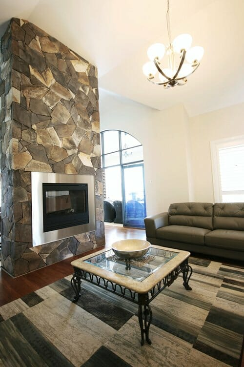 Arctic Bluestone fireplace