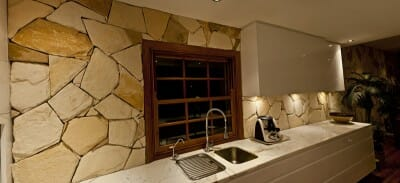 arctic-sandstone-kitchen-2 feature wall