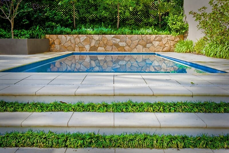 Arctic Sandstone retaining wall pool