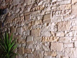 Dry Stacked Limestone blade wall