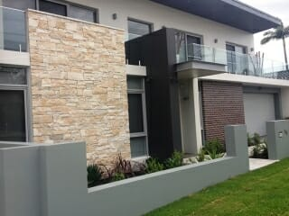 Dry Stacked Limestone house facade