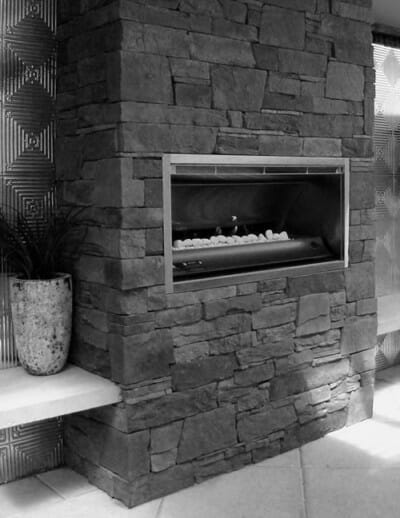 dry-stacked-slate fireplace