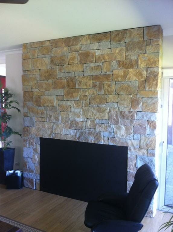 Stacked Stone Fireplaces