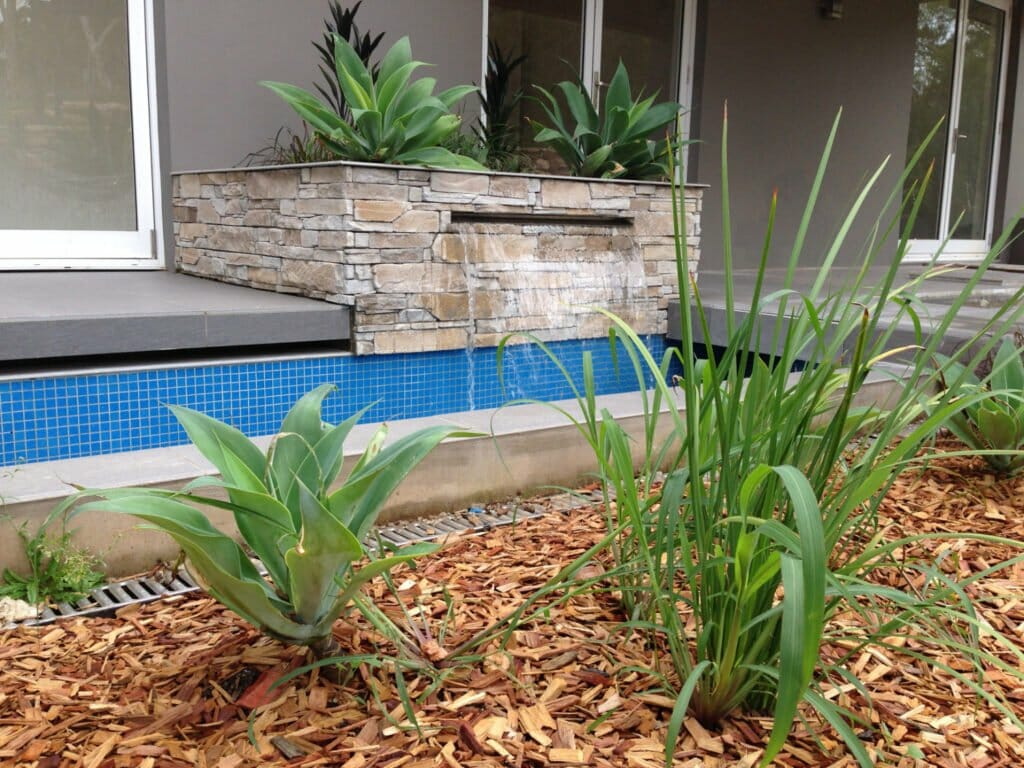 Ledgestone Natural Grey water feature retaining wall