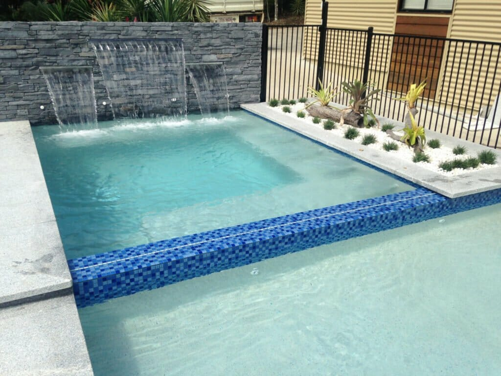 Ledgestone Slate water feature wall pool