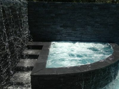 ledgestone slate water feature spa