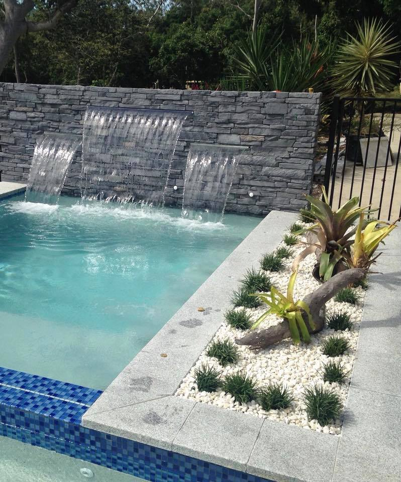 Ledgestone Slate feature wall water feature