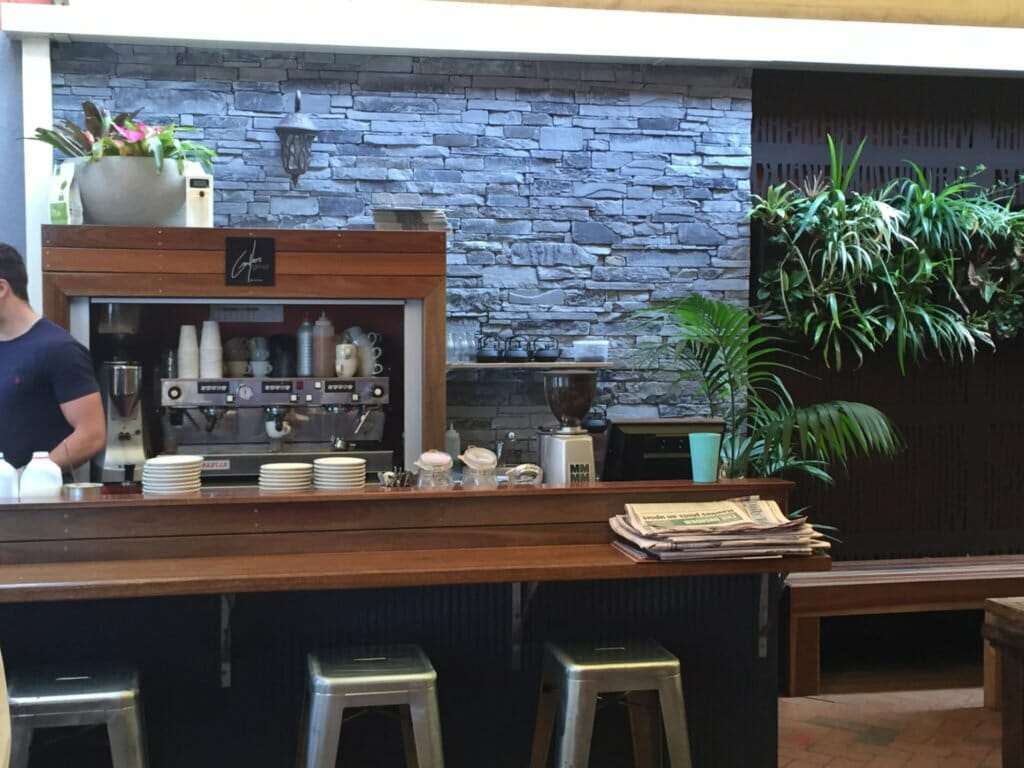 Ledgestone Slate feature wall commercial