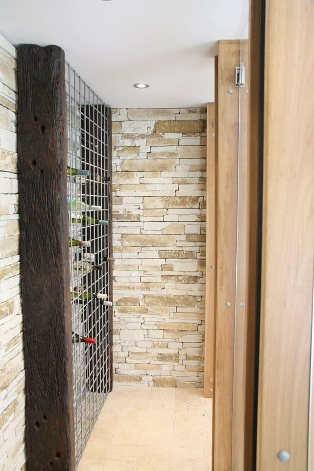 Ledgestone Travertine feature wall