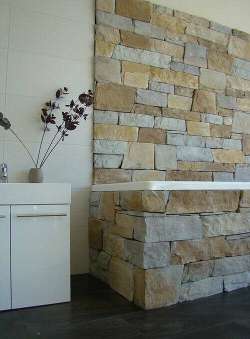 Dry Stacked Natural Grey bathroom