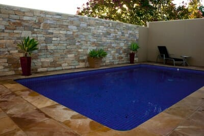 Natural Grey feature wall pool