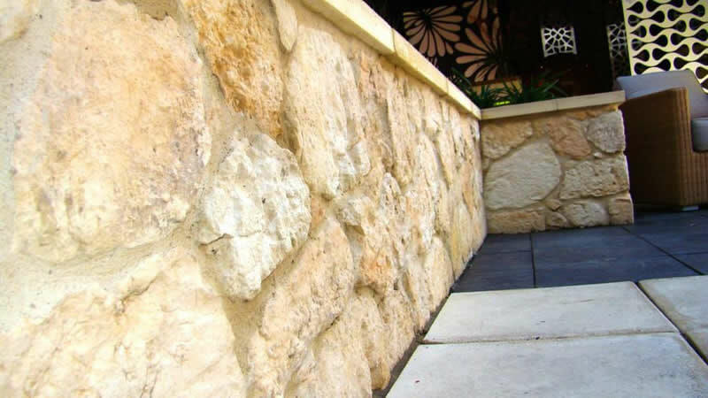 South Coast Limestone retaining wall