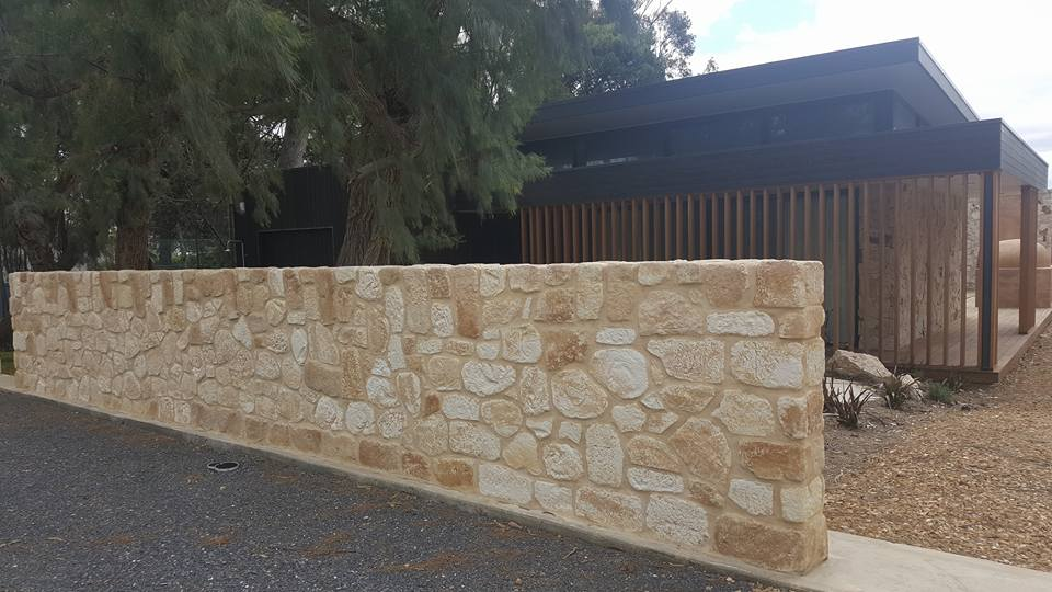 South Coast Limestone feature wall Winery Willunga SA