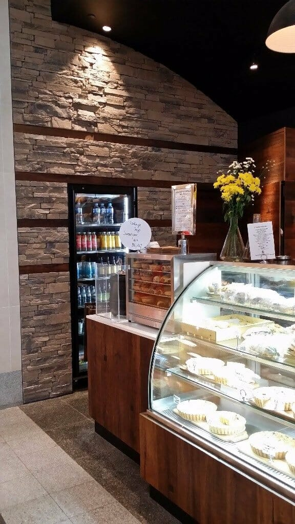 Ledgestone Earth feature wall bakery