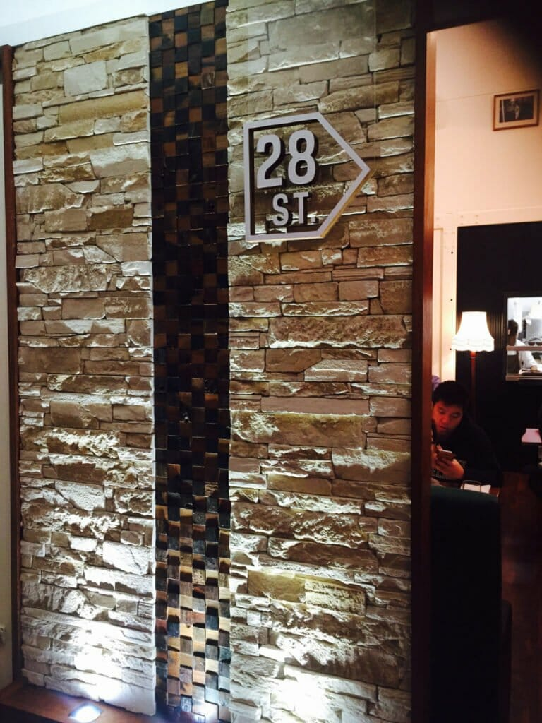 Ledgestone Sandstone feature wall - 28th St Restaurant