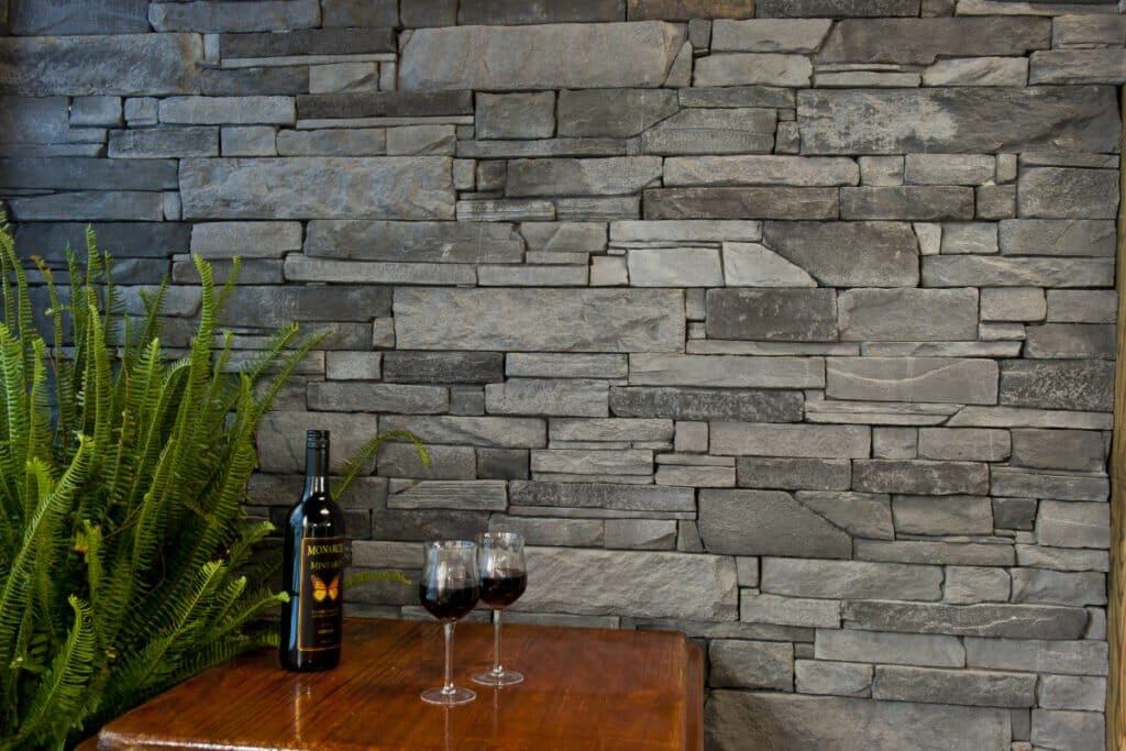 Ledgestone Slate feature wall - winery