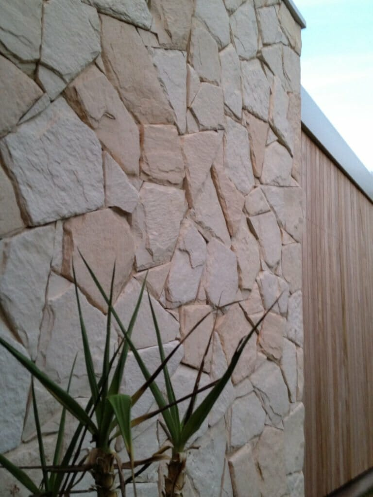 Arctic Limestone side view feature wall