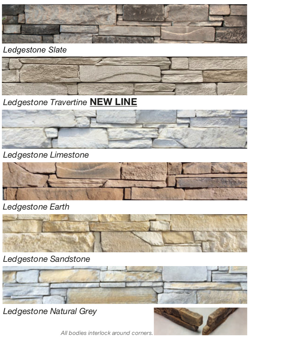 Ledgestone colours
